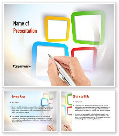 Content Creation Powerpoint Template Poweredtemplate Com 3 Backgrounds 3 Masters 20 Slides Content Creation Template