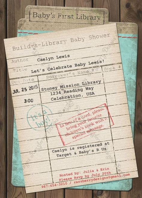Library Card Baby Shower Invitation by 25 Best Ideas About Library Baby Showers On