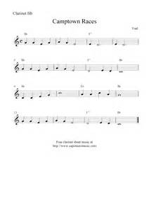 Camptown races free easy clarinet sheet music notes