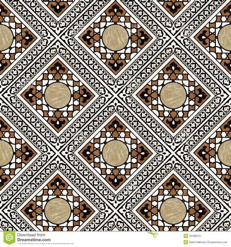 eastern pattern tiles middle eastern tile pattern stock illustration