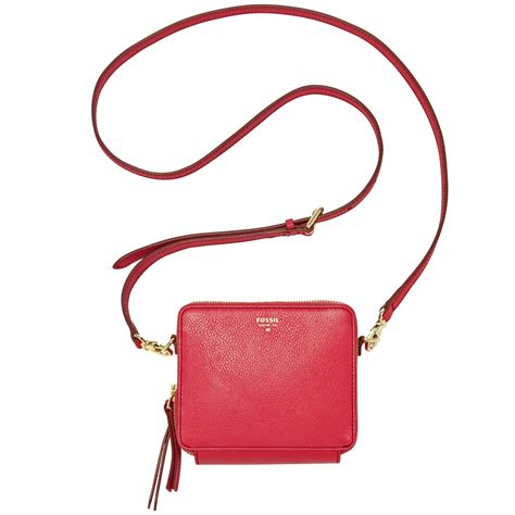 Fossil Crossbody Model 705b fossil sydney leather mini organizer crossbody in pink lyst