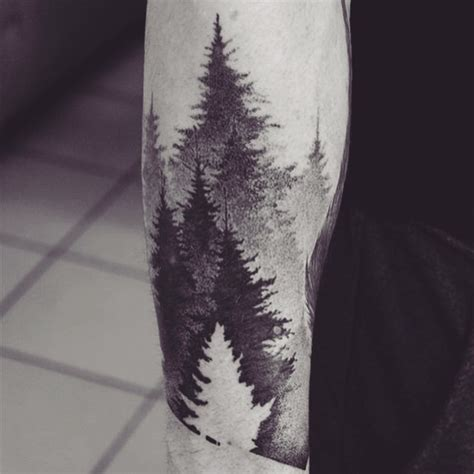 black tree tattoo 81 pine tree tattoos and ideas