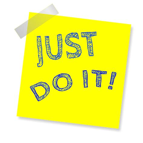 this post is just a just do it reminder post note 183 free image on pixabay