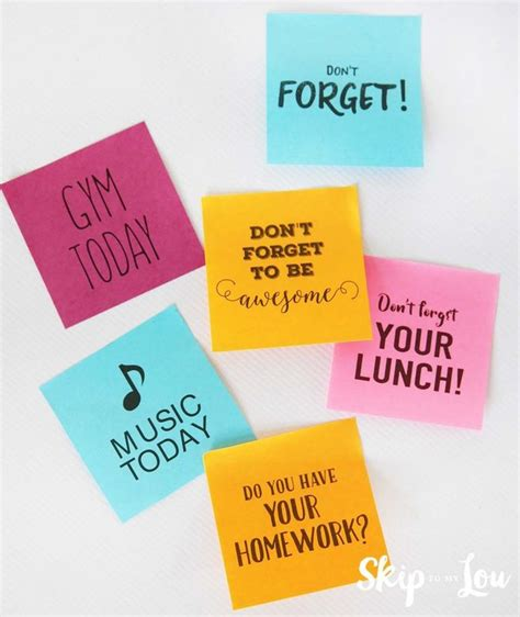 Sticky Notes Reminder Post It Memo Catatan Tempel Karakter Sno002 printable custom post it 174 notes reminders skip to my lou