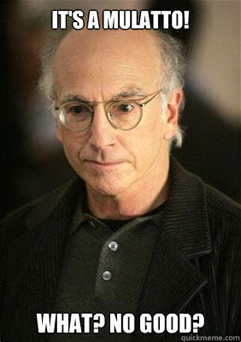 Larry David Meme - it s a mulatto what no good larry david meme quickmeme