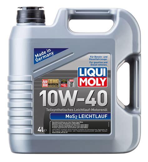 Liqui Moly Leichtlauf 10w 40 9500 Sl Cf Bensin Diesel 100 Original mos2 leichtlauf 10w 40