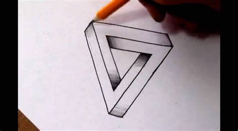 how to cool a cool pictures to draw how to draw the impossible triangle optical illusion