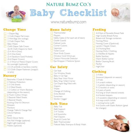 my parentimes printable checklists 9 babys layette 25 best ideas about new baby checklist on pinterest