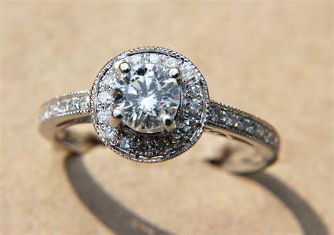 Etsy Handmade Engagement Rings - unique engagement rings halo setting handmade weddings on
