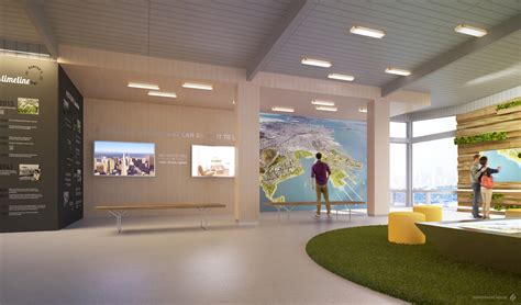 gradient matter shipyard sf welcome center interior design