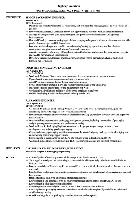 Family Readiness Officer Sle Resume by Packaging Engineer Sle Resume Advertising Agency Sle Resume Family Readiness Officer