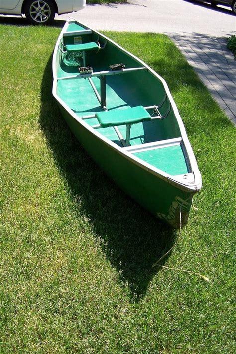 coleman 3 seat canoe 15 ft coleman canoe green composite no leaks local