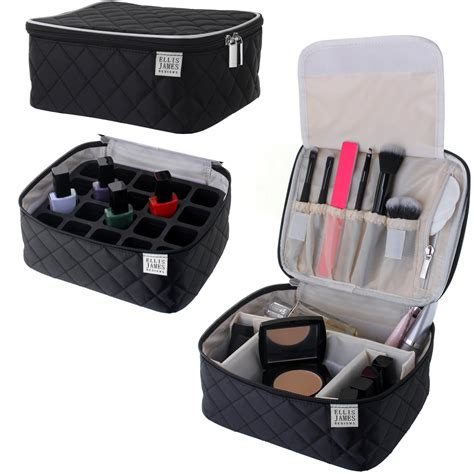 hair and makeup travel case amazon com ellis james designs large travel makeup bag