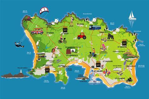 0004490363 carte touristique jersey en iles anglo normandes morvan fils transit