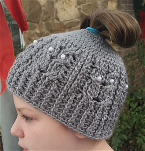 knots of love crocheted and knitted caps for chemo patients and ravelry owl be a messy bun beanie pattern by knots of