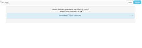 ember js bootstrap tutorial kfir124 generator ember plus yeoman generator for ember js