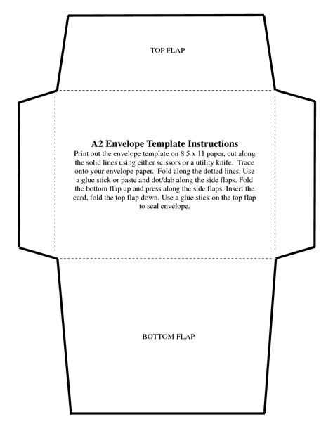Greeting Card Envelope Size Template by A7 Square Flap Envelope Template Templates Data