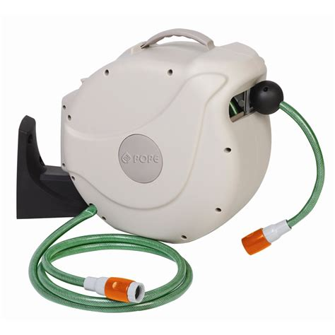 retractable garden hose reel pope 12mm x 30m automatic retractable hose reel bunnings warehouse