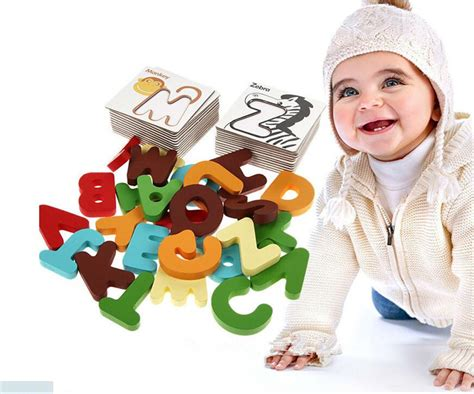 Baby Early Learning Card 1 Set new wooden early education baby preschool learning abc alphabet letter cards cognitive toys