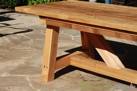 diy outdoor table legs cedar provence table knockoff for 230 hometalk