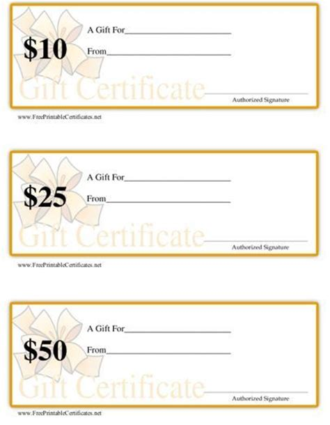 printable gift certificate template pdf this set of three printable gift certificates are ideal