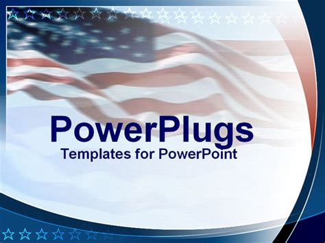 american flag powerpoint template powerpoint template an american flag in the background