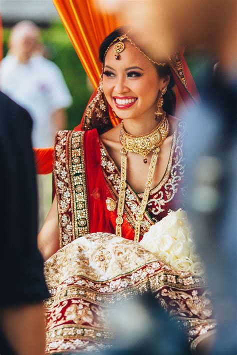 Vietnamese bride on her Indian wedding ceremony   Indian