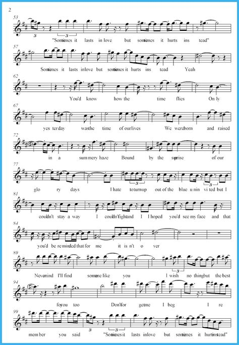 song free someone like you adele score and track sheet free