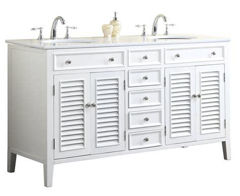 60 Inch Bathroom Vanity Cottage Style White Cabinet White Top Cottage Style Bathroom Vanities Cabinets