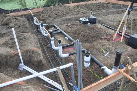 how to run plumbing it s foundation time building a ranch house house plans