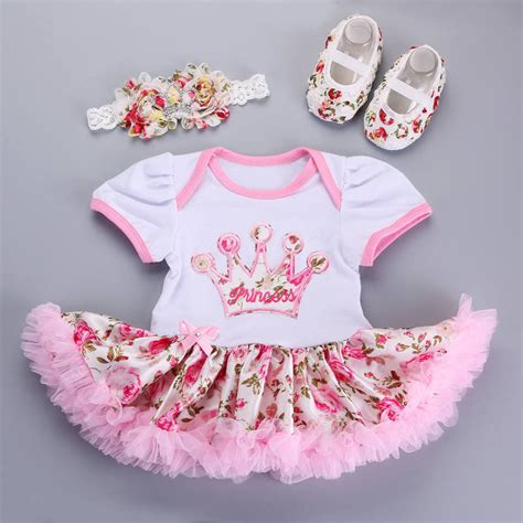 Set Tutu Fullset Shoes For Baby 0 12 Month 18 2016 new tutu dress princess dress newborn baby clothes shoes headband set baby