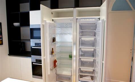 frigo cuisine encastrable frigo americain dans cuisine equipee decoration chambre