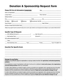 free sponsorship form template sponsorship request form exle of a sponsorship letter