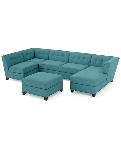 modular chaise sofa harper fabric 6 piece modular chaise sectional sofa