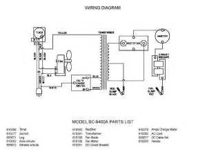 model bc 9400a associated battery charger parts list wiring diagram schematic