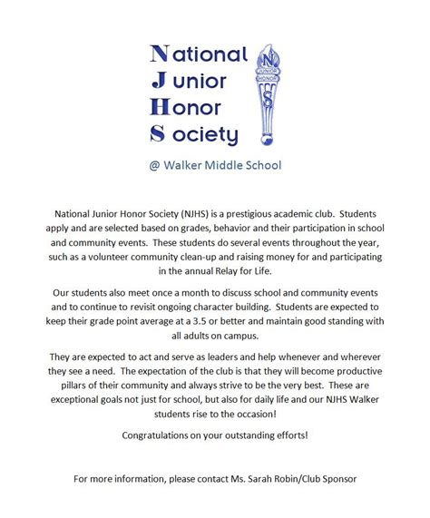 Acceptance Letter For National Honor Society National Honor Society Essay Help Singyourlovestory