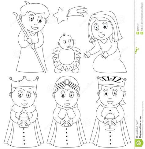 gafetes para abuelitos nativit 224 di natale di coloritura illustrazione vettoriale