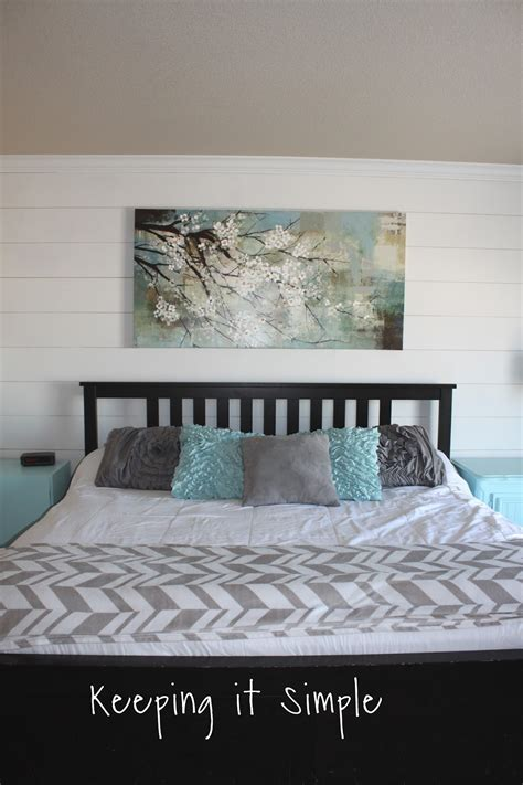 shiplap bedroom keeping it simple how to build a shiplap in a master