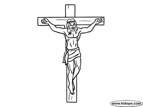 coloring pages jesus crucified crucifixion coloring page