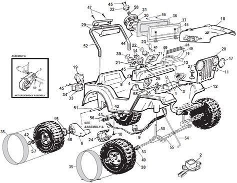 Jeep Parts In Power Wheels Sport Jeep Parts