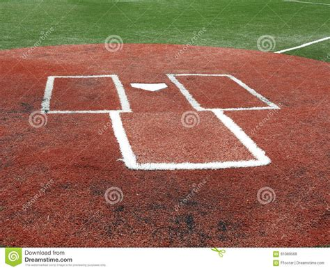 baseball home plate and batter s box stock photo image