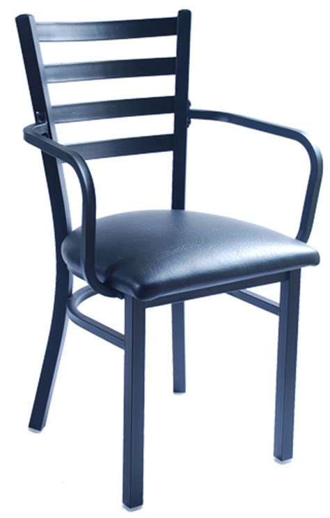 metal bistro chairs with arms metal restaurant chair ladder back with arms