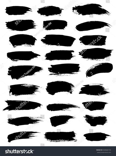 black paint blobs watercolor highlighter vector stock