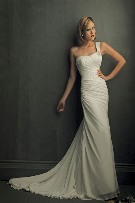 One Shoulder Wedding Dress by One Shoulder Wedding Dresses From Bridal Sang Maestro