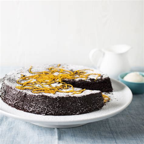 chocolate orange cake woman  home