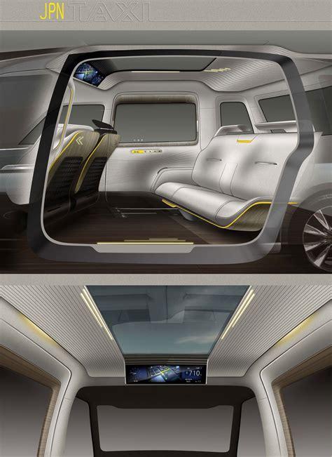 toyota jpn taxi concept interior design sketches car