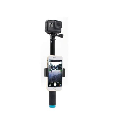 Sjcam Gopro telesin extendable selfie stick with tripod mount phone clip for gopro sjcam xiaomi yi