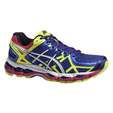 womens asics sneakers asics womens gel kayano 21 running shoes blue flash