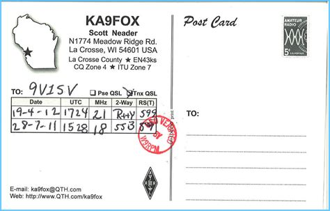 Qsl Card Design Template by Qsl Card Template Qsl Radio Qsl Card Template