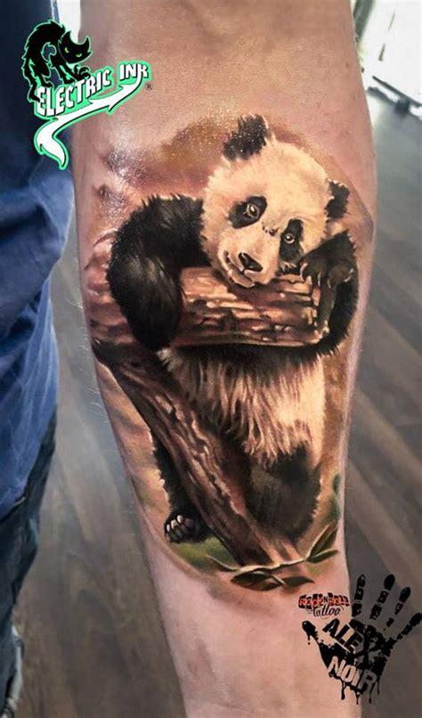 panda tiger tattoo cute panda leaning on a branch best tattoo design ideas